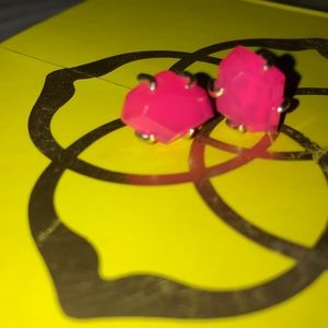 Kendra Scott gold and pink studs